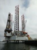 Een olieplatform als uitzicht
